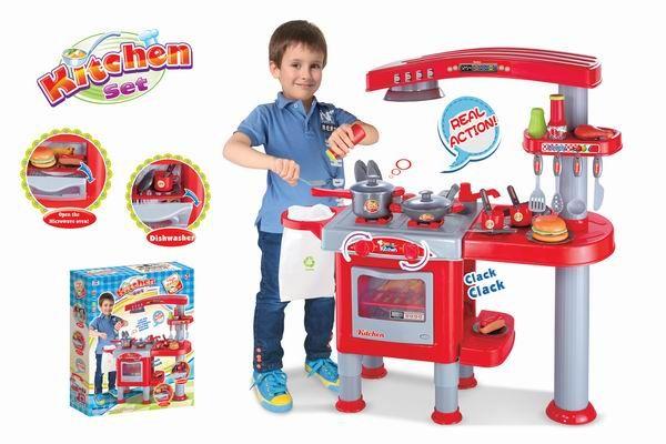 Hračka G21 Dětská kuchyňka velká s příslušenstvím červená Nářadí-Sklad 1 | 6