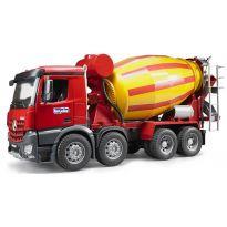 Domíchávač betonu Mercedes Benz Arocs 03654 BRUDER