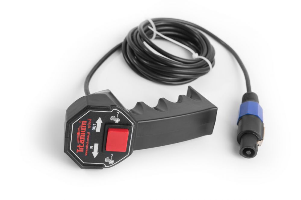 Drátový ovladač do ruky k el. navijáku TITANIUM WINCH *HOBY 0Kg ES-1155