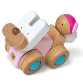 """Dřevěná skládačka """"BunnyCar"""" - Auto / Králíček"""