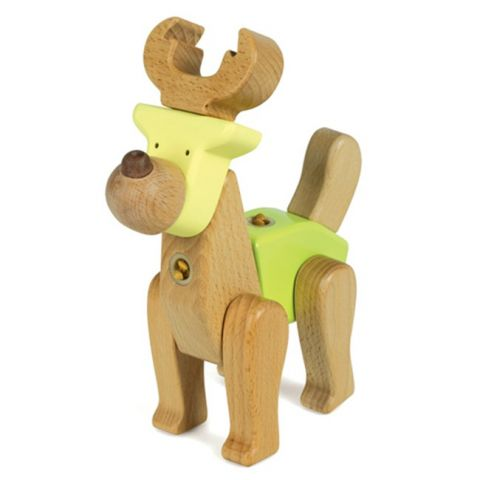 "Dřevěná skládačka ""Deer"" - Jelen"