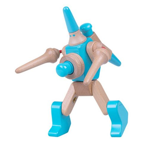 """Dřevěná skládačka """"EQBOT Sola"""" - Roboti"""