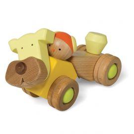 """Dřevěná skládačka """"PuppyCar"""" - Auto / Pejsek"""