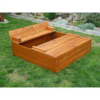 Dřevěné pískoviště s lavičkou - kaštan KAXL
