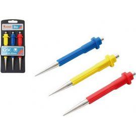Důlčíky, sada 3ks, 0.8, 1.5, 2.5mm, délka 125mm, CrV, EXTOL PREMIUM