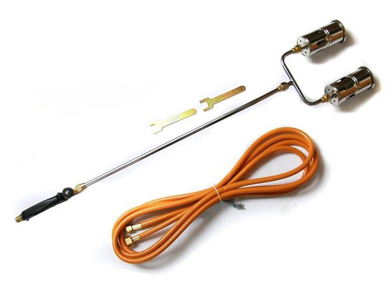 Dvojitý plynový hořák PB + hadice MAR-POL