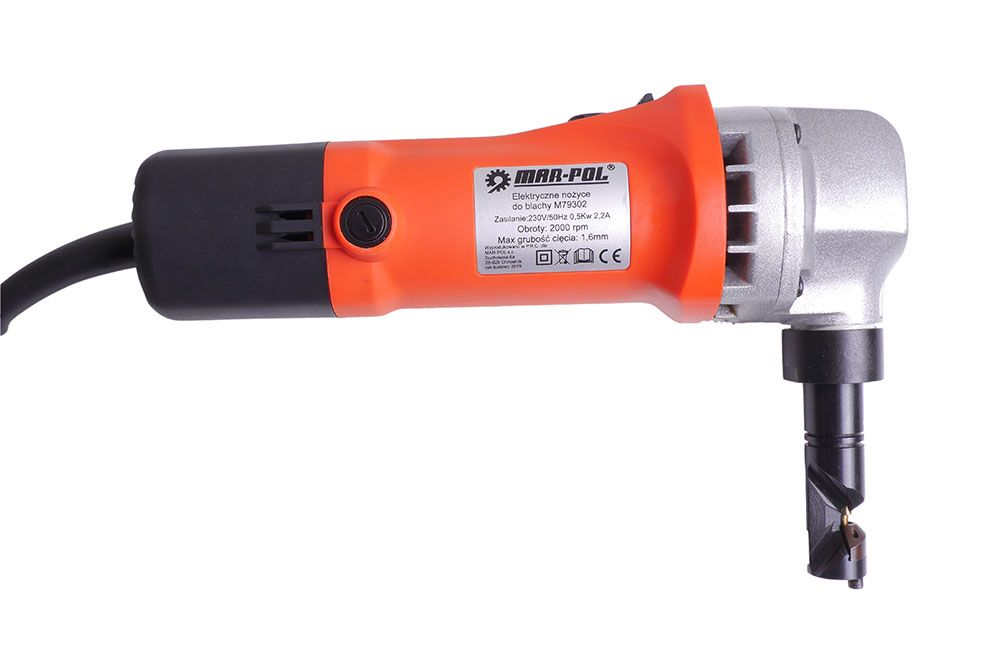Elektrické stříhací nůžky na plech 550W MAR-POL