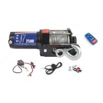 Elektrický lanový naviják 12V 1,1t (2500lbs - 1134kg) TITANIUM WINCH s ovladačem na řidítka a dálkovým ovladačem