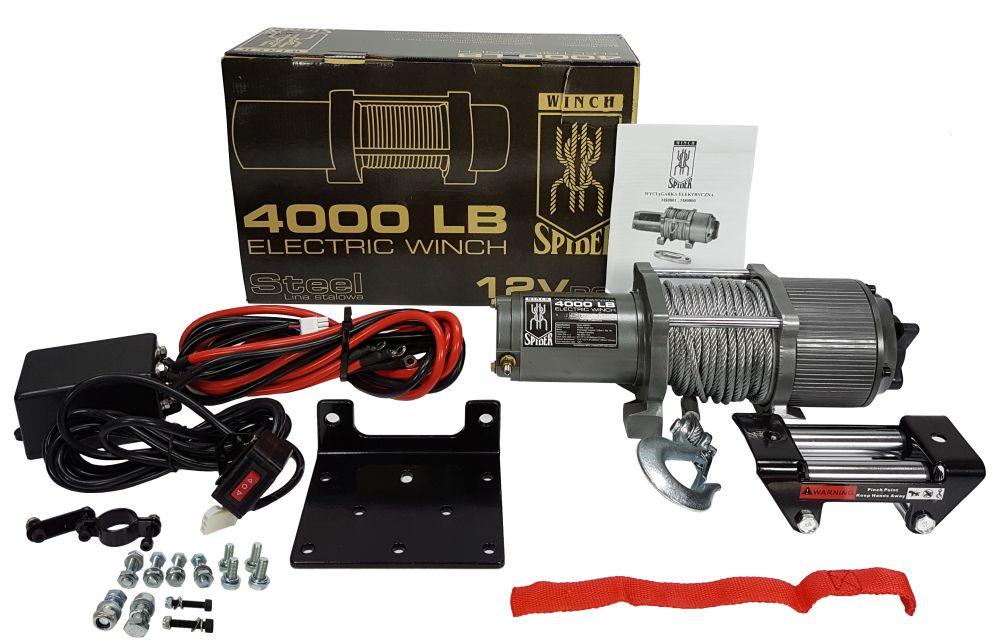 Elektrický lanový naviják 12V 1814kg 4000lbs MAR-POL *HOBY 13.5Kg M80801