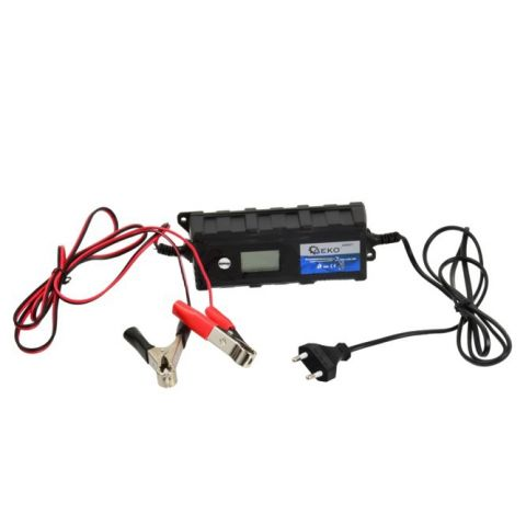 Elektronická nabíječka 6/12V, 1,2-120Ah, LCD GEKO