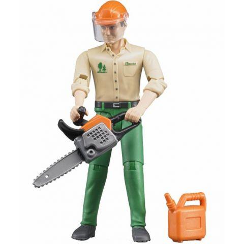 Figurka - Lesní dělník + příslušenství 60030 BRUDER