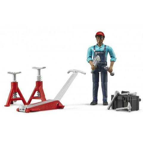 Figurka - Mechanik (opravář) + dílenské nářadí 62100 BRUDER