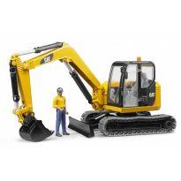Figurka - Muž + mini bagr Caterpillar 02466 BRUDER