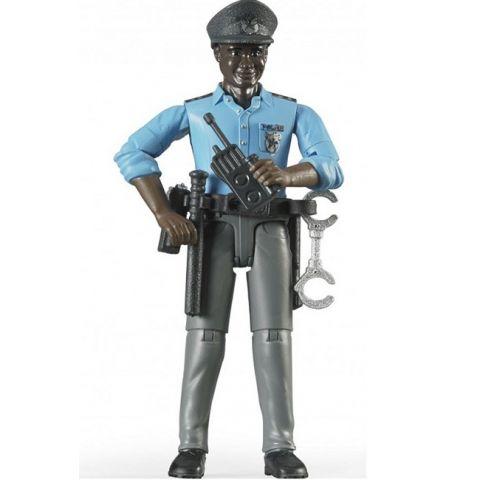 Figurka - Policista (tmavá pleť) + příslušenství 60051 BRUDER