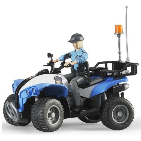 Figurka - Policistka s příslušenstvím + čtyřkolka 63010 BRUDER