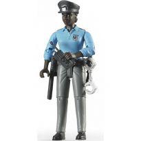Figurka - Policistka (tmavá pleť) + příslušenství 60431 BRUDER