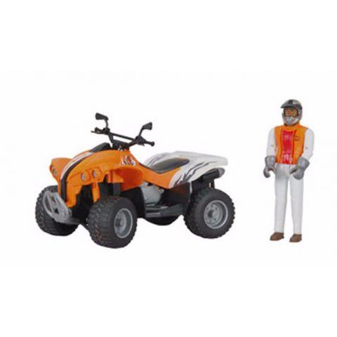 Figurka - Řidič + čtyřkolka 09032 BRUDER