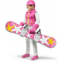 Figurka - Snowboardistka + příslušenství 60420 BRUDER
