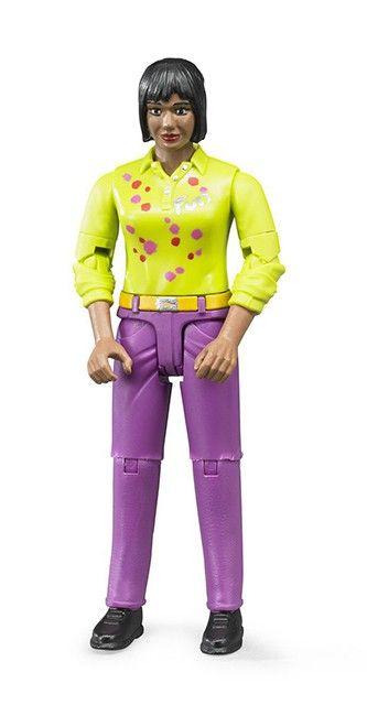 Figurka - Žena (snědá pleť), fialové kalhoty 60403 BRUDER Nářadí-Sklad 1 | 0