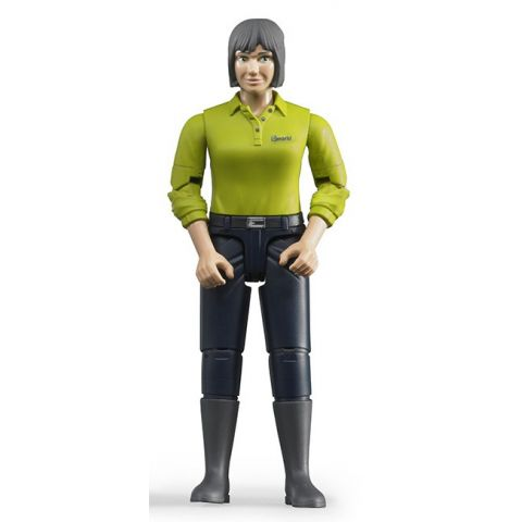 Figurka - Žena (světlá pleť), tmavé kalhoty 60405 BRUDER