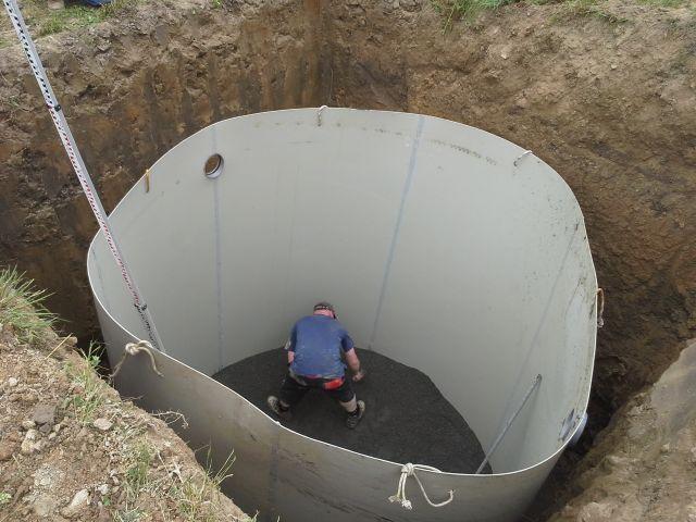 betonování dna pláště
