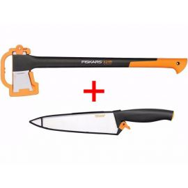 FISKARS Sekera štípací X21 L + nůž kuchařský 20cm (122473+1014197)