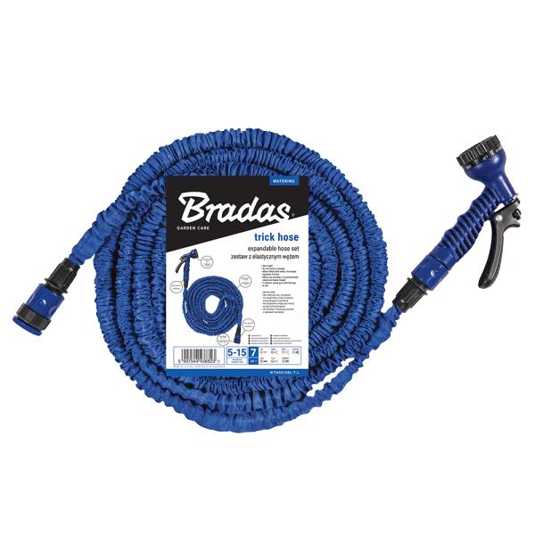 Flexibilní, smršťovací zahradní hadice 10m-30m s postřikovačem - modrá TRICK HOSE *HOBY 0Kg BR-WTH1030BL-T-L
