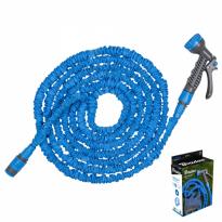 Flexibilní, smršťovací zahradní hadice 7,5m-22m s postřikovačem - modrá TRICK HOSE