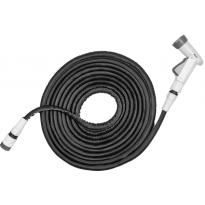 Flexibilní zahradní hadice 7,5m-15m s postřikovačem - černá TWIST HOSE