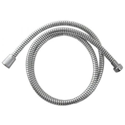Hadice sprchová, černo/stříbrná PVC, 150cm, rotační, PVC, VIKING