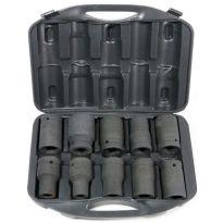 "Hlavice nástrčná, rázová 1"", sada 10ks, 17-41mm GEKO"
