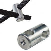Hliníková, křížová svorka k lanu s ocelovým jádrem KAXL