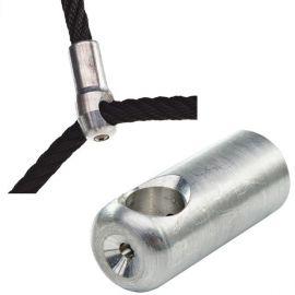 Hliníková svorka tvaru T k lanu s ocelovým jádrem KAXL