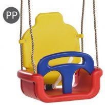 Hluboký sedák rozkládací 3 v 1 červená-žlutá-modrá PP10 KAXL