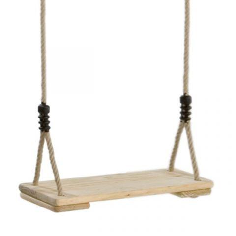 Houpačka, dřevěný sedák, lano PP10 KAXL