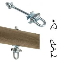 """Houpačkový hák, 140 mm, M12, typ """"D+"""" KAXL"""