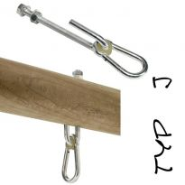 "Houpačkový hák, 140 mm, M12, typ ""J"" KAXL"