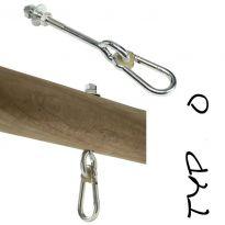 """Houpačkový hák, 160 mm, M12, typ """"O"""" KAXL"""