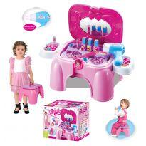 Hračka G21 Kosmetický stolek malý s příslušenstvím, sedátko