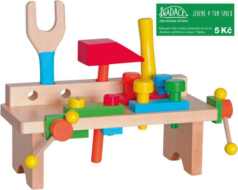 Hračka Woody Pracovní ponk jednoduchý - nový design Nářadí-Sklad 1 | 0