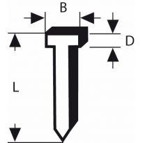Hřebíčky, typ 47 - 1,8 x 1,27 x 23 mm - 3165140004886 BOSCH