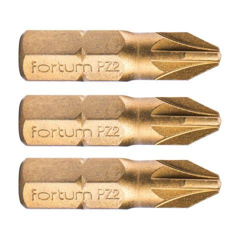 Hrot křížový, sada 3ks, PZ 2x25mm,titan. úprava, S2