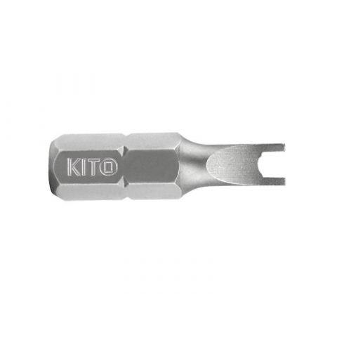 Hrot plochý vrtaný, SD 8x25mm, S2, KITO