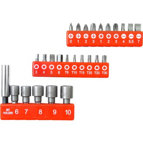 Hroty, sada 26ks, 25mm, magnetický držák hrotů, CrMoV, EXTOL PREMIUM