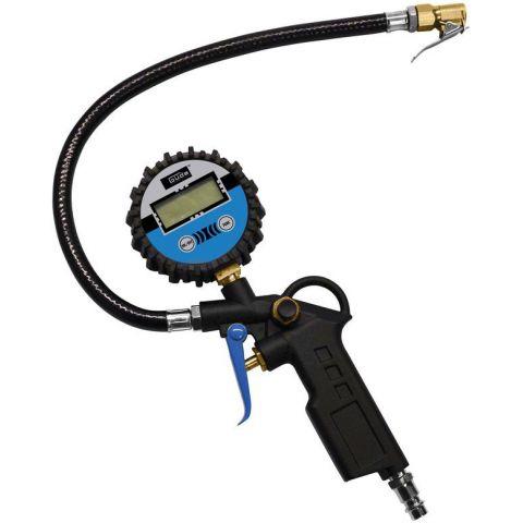 Hustilka (hustič) pneumatik s digitálním manometrem 11E GÜDE