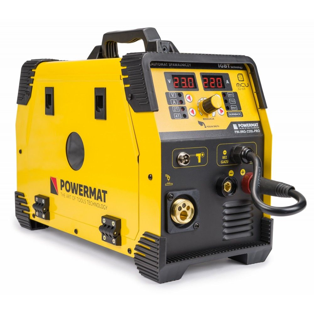 Poloautomatická invertorová svářečka 220A MIG / MAG / TIG / MMA PM-IMG-220L-PRO POWERMAT