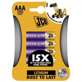 JCB lithiová baterie FR03/AAA,1.5V, blis