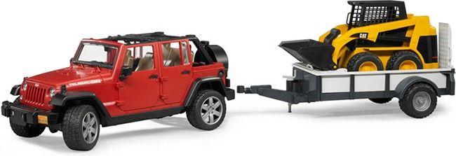 Jeep Wrangler Unlimited Rubicon + přívěs a nakladač 02925 BRUDER Nářadí-Sklad 1 | 0