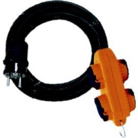 Kabel 10m 230V 4zásuvka neopren