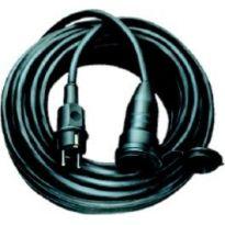 Kabel s vidlicí a volnou zásuvkou 16A-25m